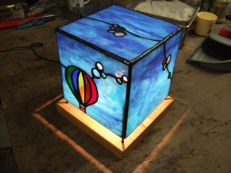 熱気球の行灯型ランプシェード