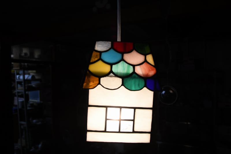 ステンドグラス,教室,ランプシェード,フュージング