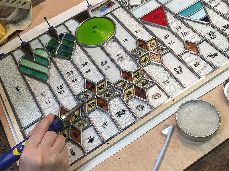 スタジオヤマノ, studioyamano, ステンドグラス, stainedglass, 大阪, 吹田, 北摂, 関西, 北摂習い事, ワークショップ, ワークショップ開催, ワークショップイベント, 出張ワークショップ, 出張レッスン, 出張教室, パネル, panel, ケイム, Lead's, Came, やりたいことをする, 作りたいものを作る, 使いたいもので作る,
