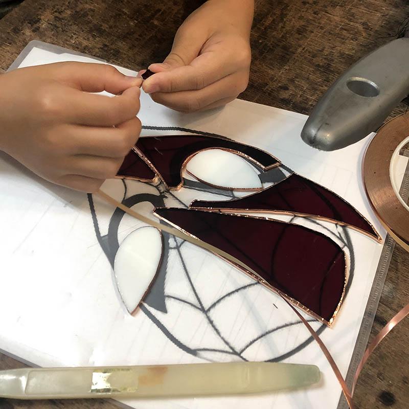 スタジオヤマノ, studioyamano, やりたいことをする, 作りたいものを作る, 使いたいもので作る, 大阪, 吹田, 北摂, 通販, ショップ, 店頭販売, 教室, ワークショップ, 体験教室, 出張教室, ステンドグラス, stainedglass, 材料, ガラス, glass, サンキャッチャー, Suncatcher, モビール, mobile, スパイダーマン, SpiderMan, マーベル, MARVEL, アメコミ, Comic, 親子, 親子制作,